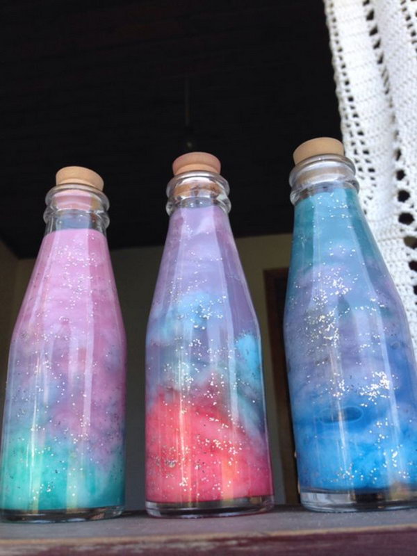 DIY Bottled Nebula. Learn more details of this tutorial