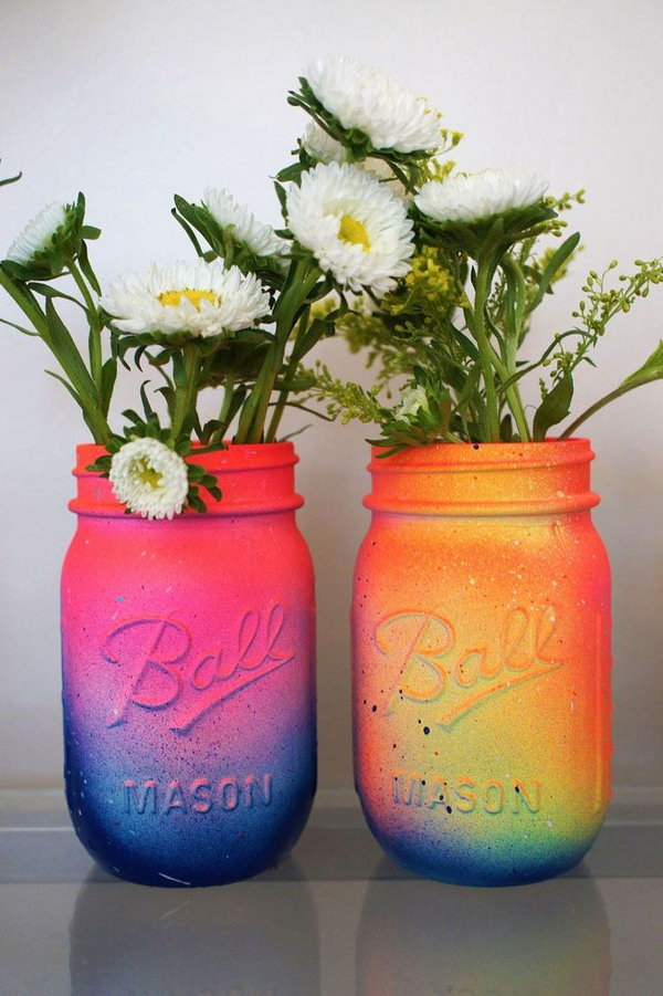 DIY Galaxy Mason Jars. See more pictures