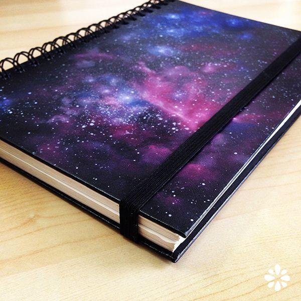 DIY Galaxy Print Book. See the video tutorial