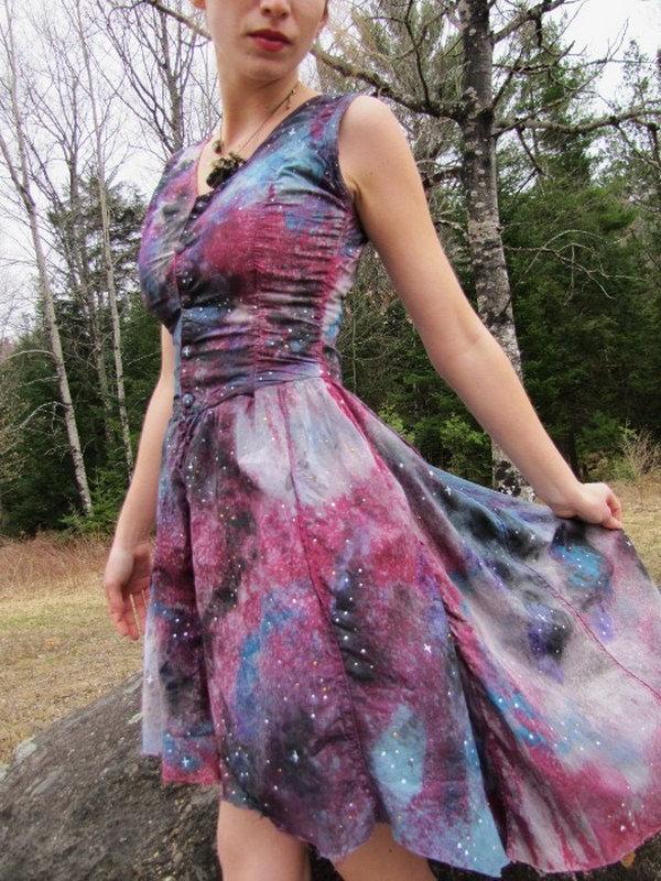 DIY Galaxy Dress. Tutorial