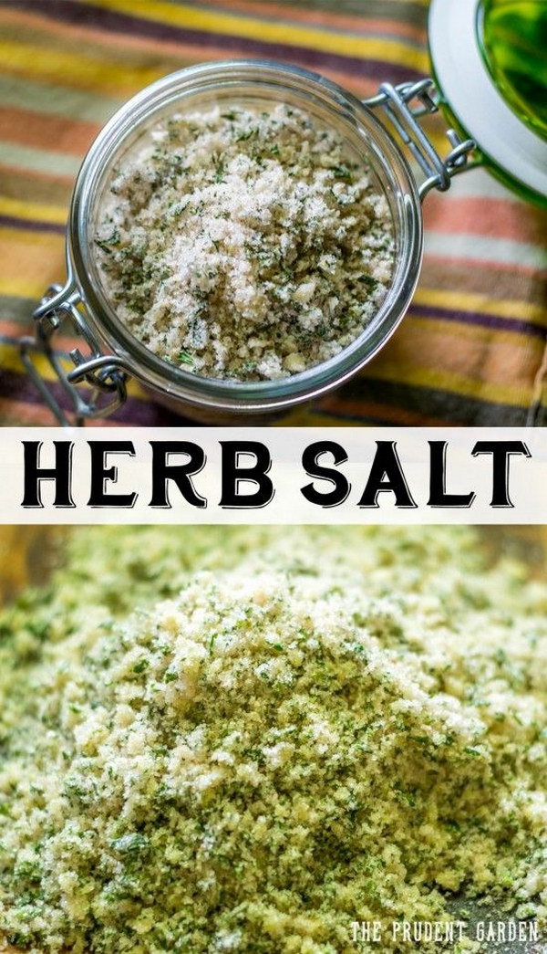 Preserve Your Herbs By Making Flavorful Herb Salts. This Makes Perfect Gifts  From The Garden