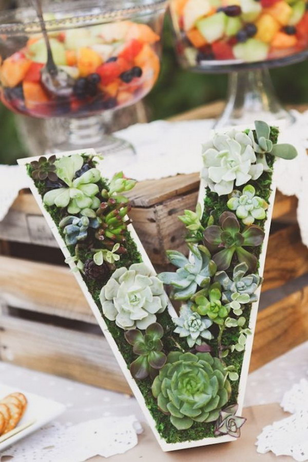 Succulent Monogram Planter. This Succulent Monogram Planter Makes A Perfect  Gift For Garden Lovers ...