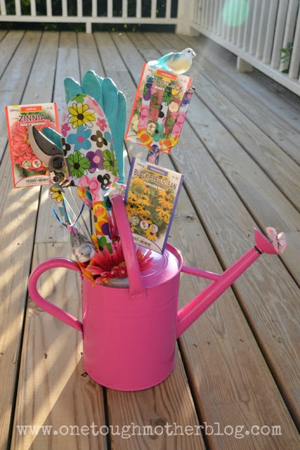 Great gifts for garden lovers watering can gift basket workwithnaturefo