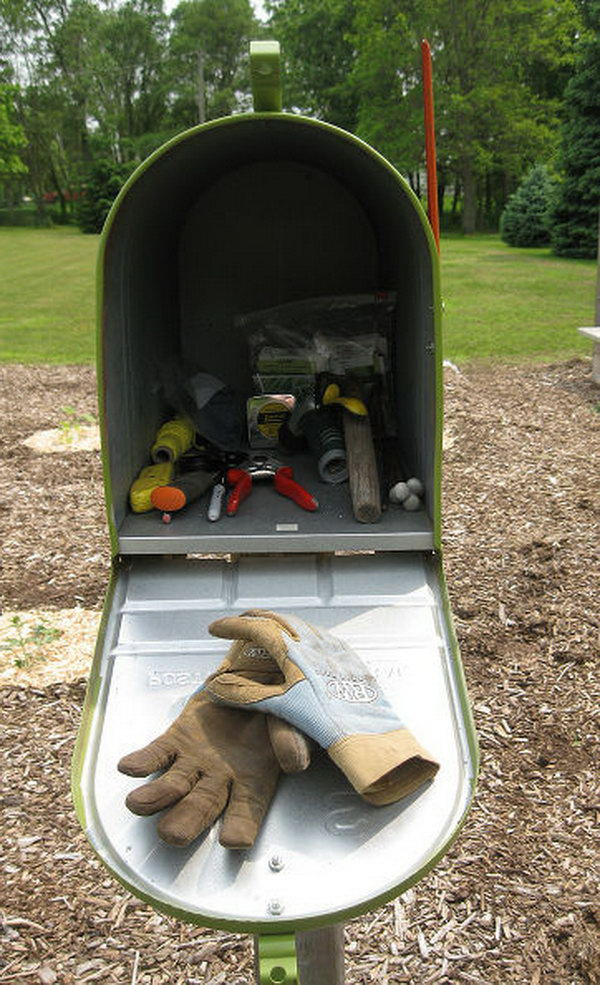 Use Your Garden Mailbox As Your Toolshed. See more