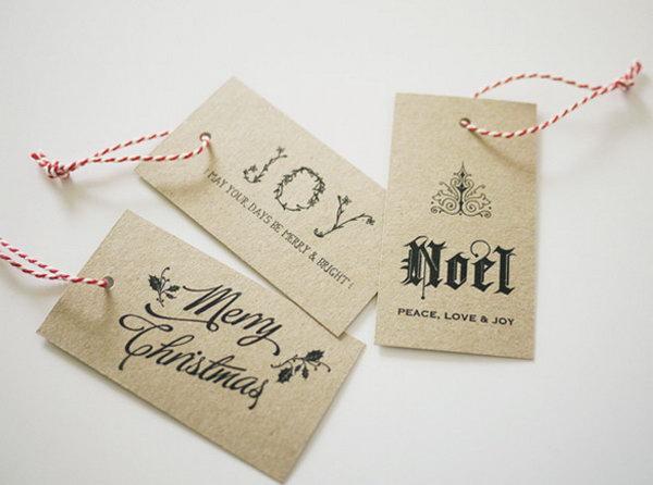 Creative diy gift tag ideas tutorials classy gift tags solutioingenieria Gallery