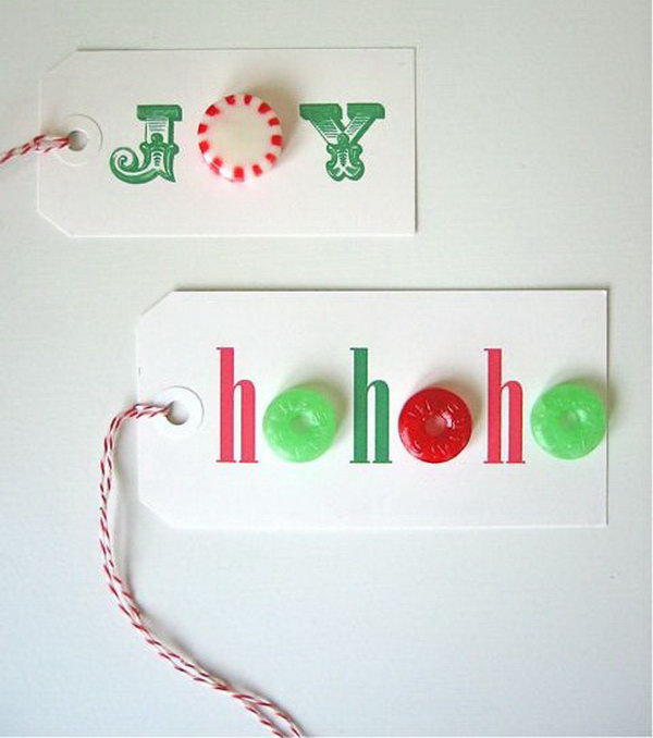 Candy Gift Tags.