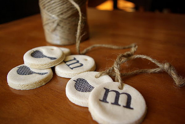 Salt Dough Gift Tags.