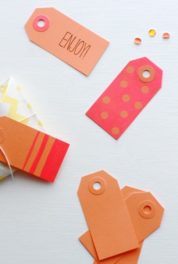 Color Block Gift Tags.