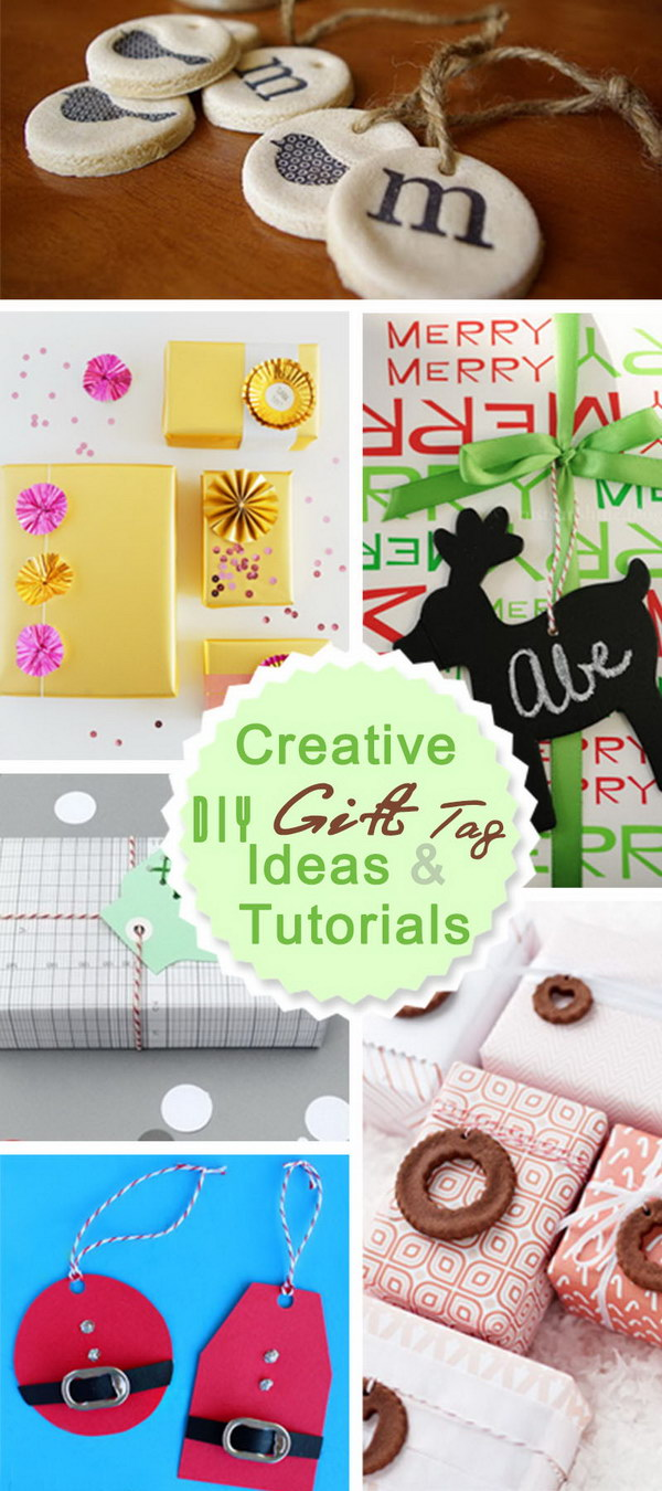 Creative DIY Gift Tag Ideas & Tutorials!