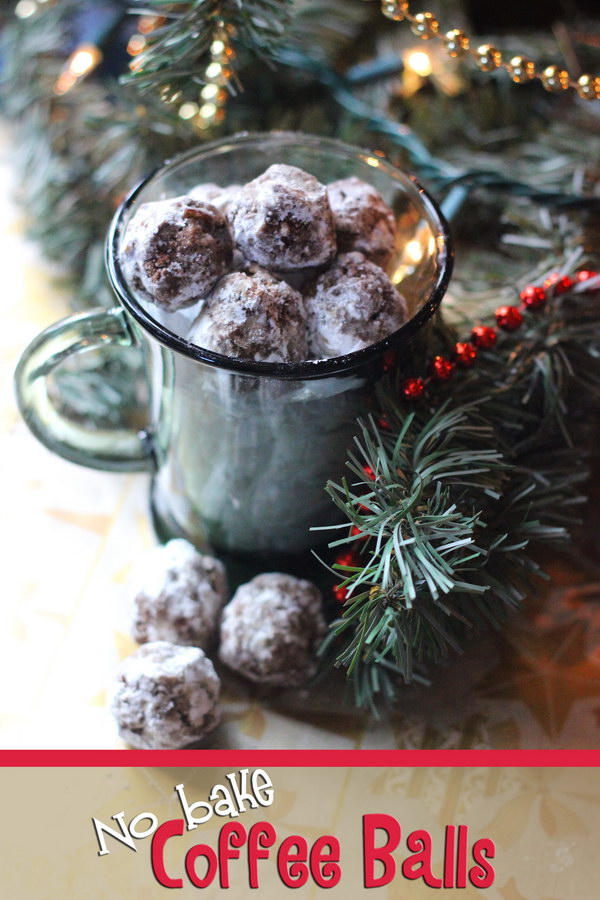 No Bake Coffee Balls. These coffee flavored cookies make such easy Christmas cookies for a cookie exchange. They are easy gifts for the coffee lovers in your life!