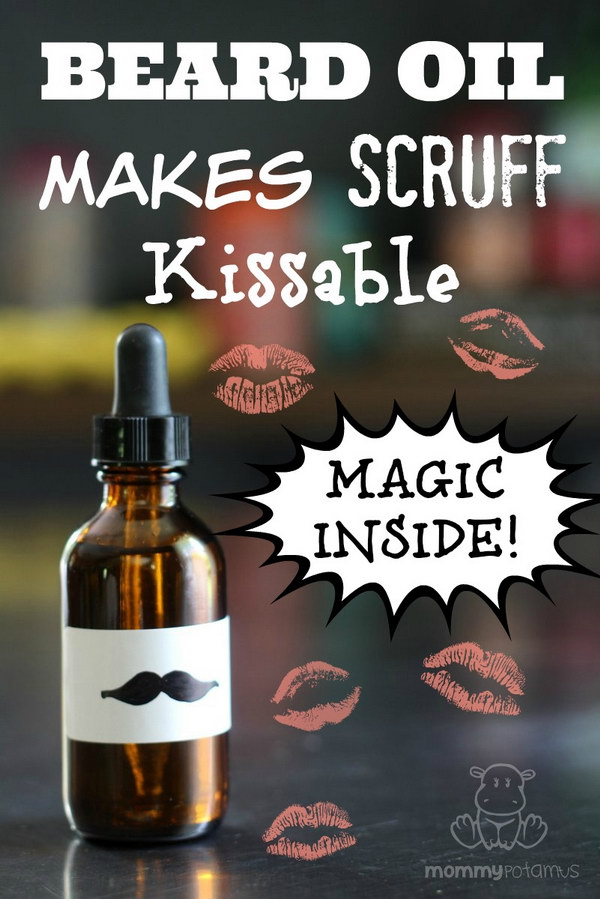 DIY Beard Oil Recipe. This makes an excellent DIY gift for your father, husband or boyfriend if you don't like his whiskers jabbing you!