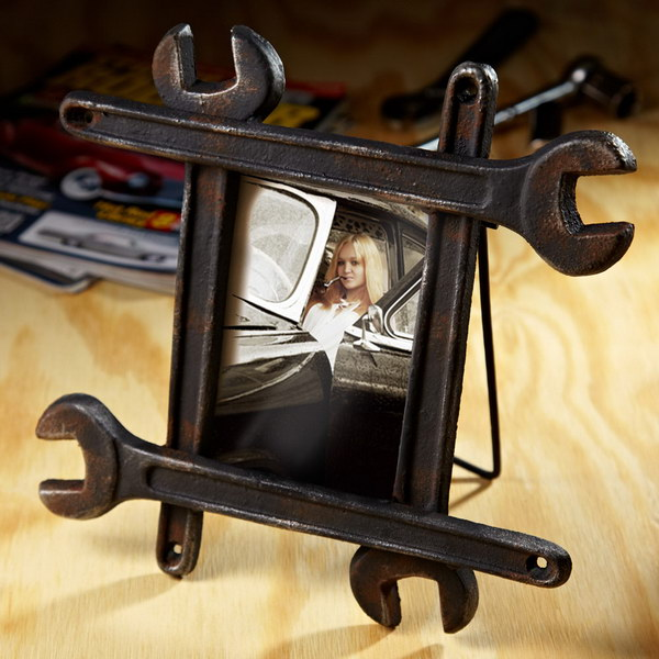 Wrench Picture Frame. This photo frame is a great gift for him to show what's most important to him.