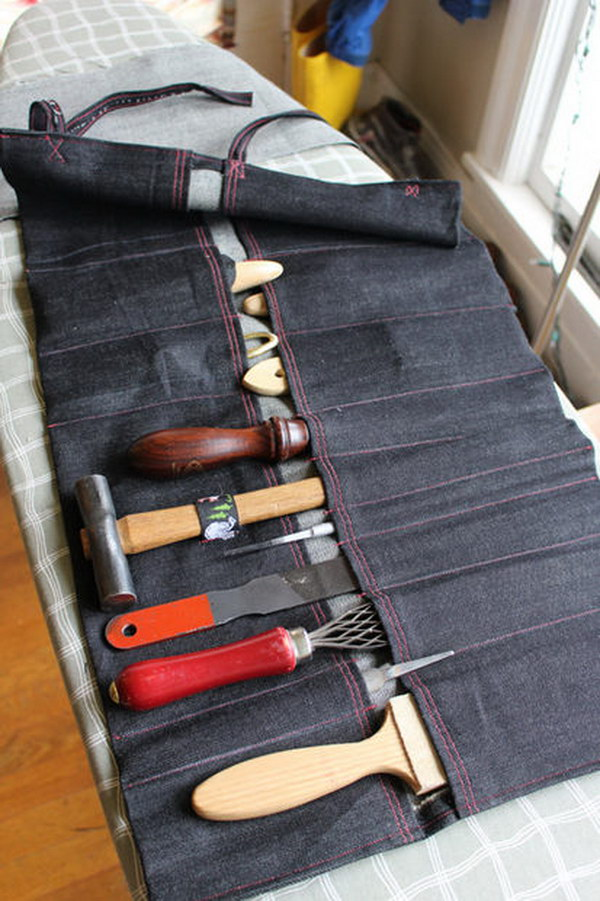 Tool Roll. This would make a great gift for a man which help him to organize the tools and carry them anywhere.