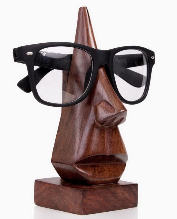 Wood Eyeglass Holder For Christmas Gift