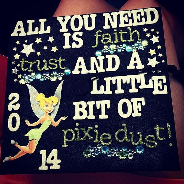 Tinker Bell Inspired Graduation Cap