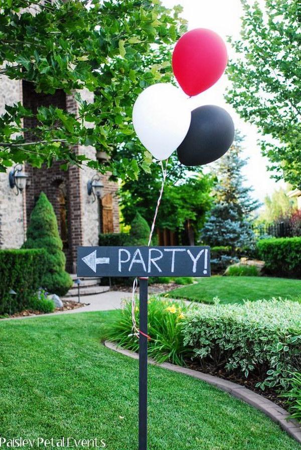 Graduration Party Sign.