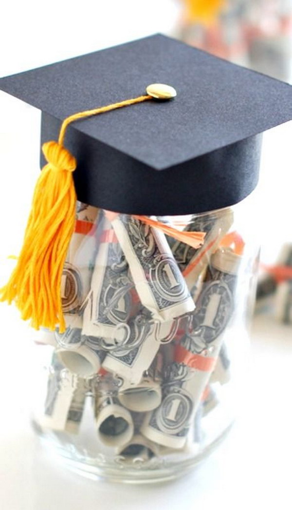Graduation Gift With Dollar Diplomas.