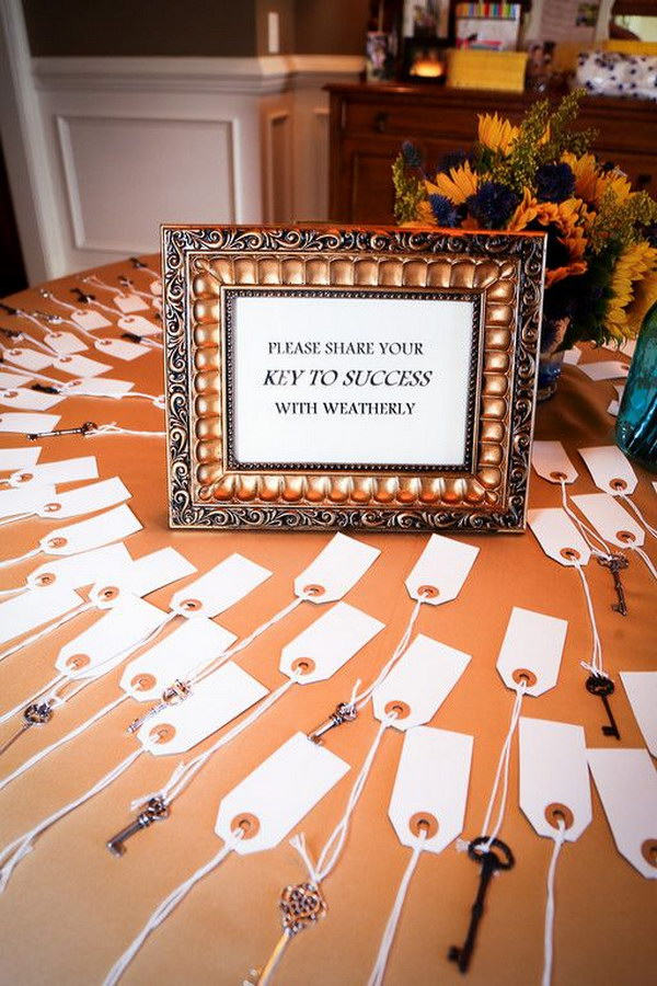 Keys To Success For Grad Party Ask Guests To Fill Out Their Tips For Success.