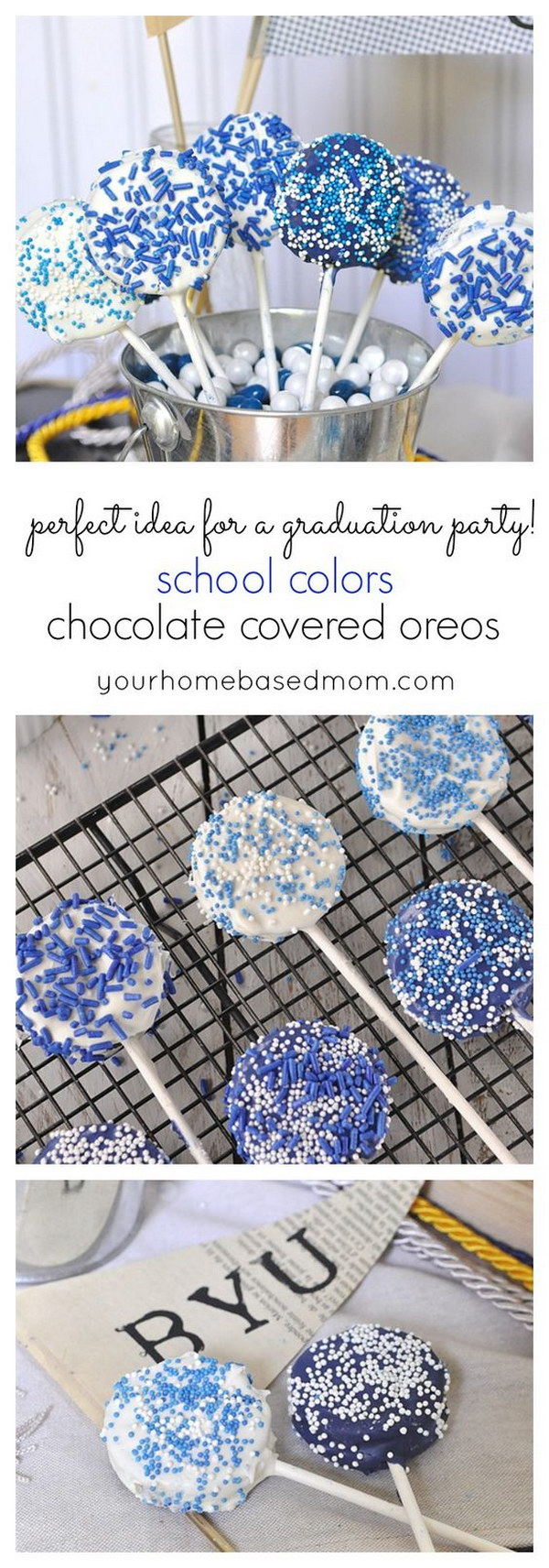 School Colors Chocolate Covered Oreos.