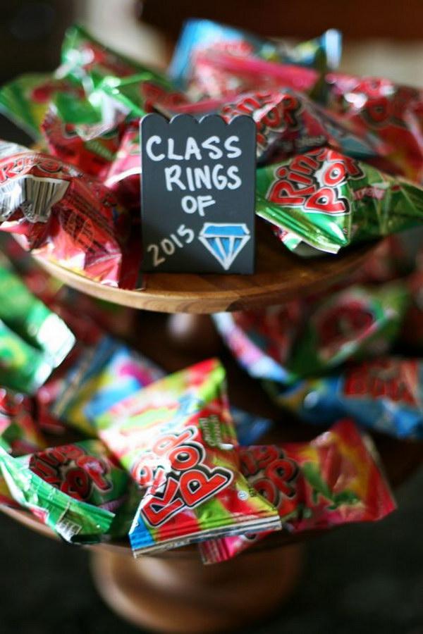 Graduation Themed Candy Dessert Bar.