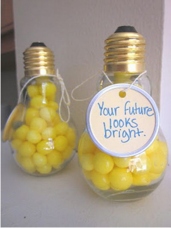 Graduation Party Favor Idea: For A Bright Future.
