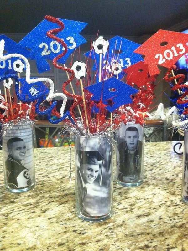 Graduation Centerpieces.