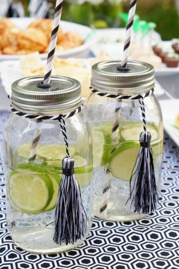Graduation Party Mason Jars.