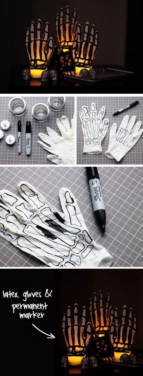 DIY Glowing Skeleton Hands