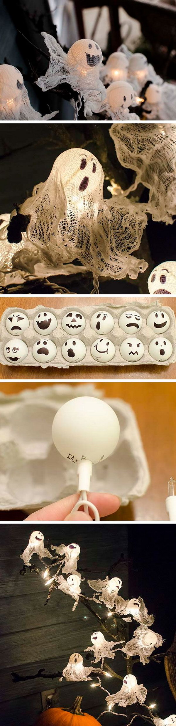 These DIY cute ping pong ball ghost lights are super simple and can be ready just in time for Halloween!
