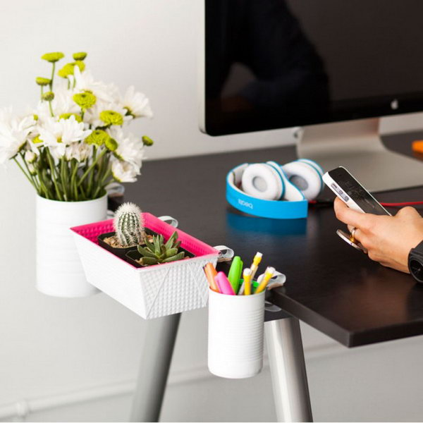 Clip-On Desk Organizers. Get the tutorial