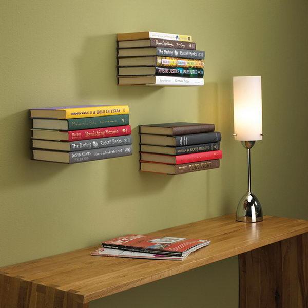 Invisible Bookshelf.