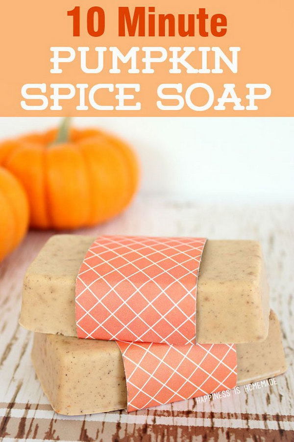 How to make a DIY pumpkin spice soap in 10 minutes