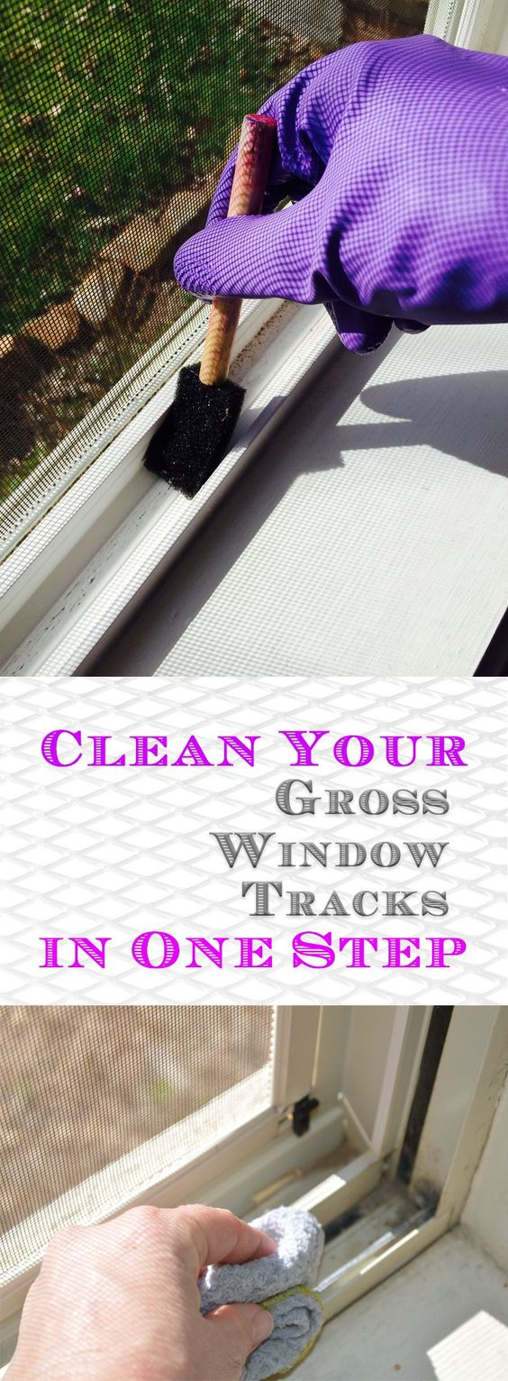 Clean Your Gross Window Tracks in One Step.