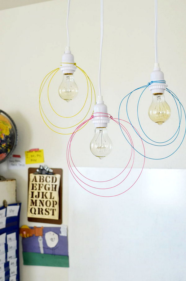 Wire Pendant Light.