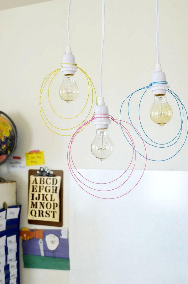 Wire Pendant Light.