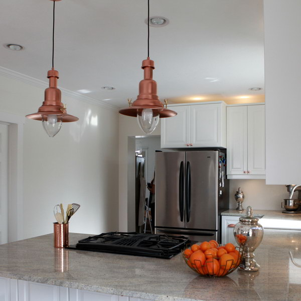 Copper Barn Light Ikea Hack. Get the instructions