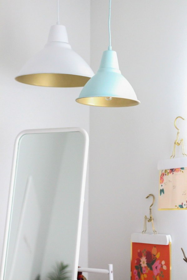 Ikea Lighting Hack Kilometer Lights Diy Pendant Lamps With Shades Of Gold Ofriendly Budget Friendly Diy Ikea Lighting Hacks For Your Home Decor