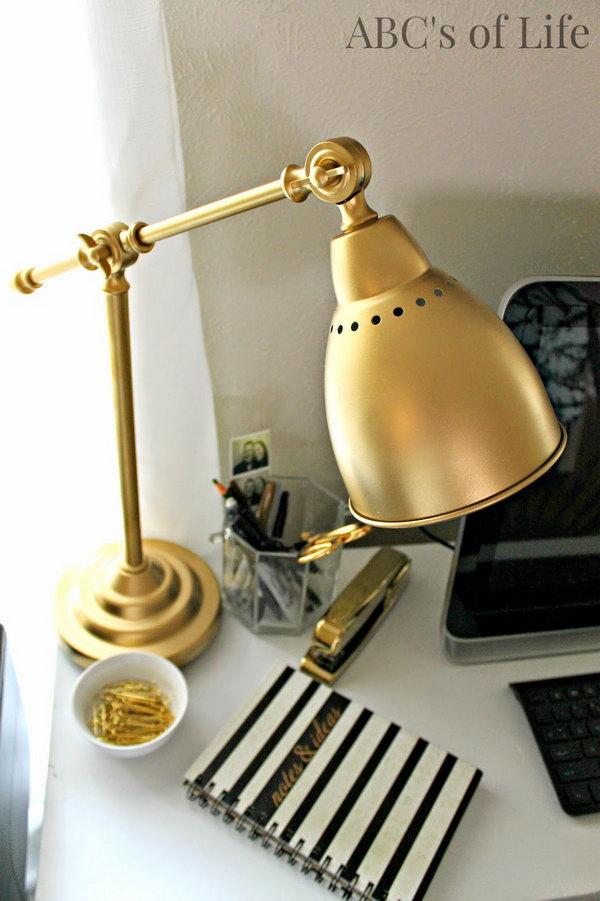 Golden Desk Lamp. See how
