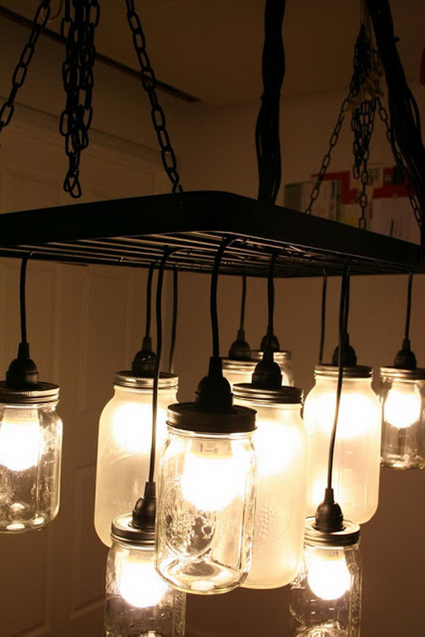 Budget friendly diy ikea lighting hacks for your home decor southern charm mason jar chandelier aloadofball Image collections