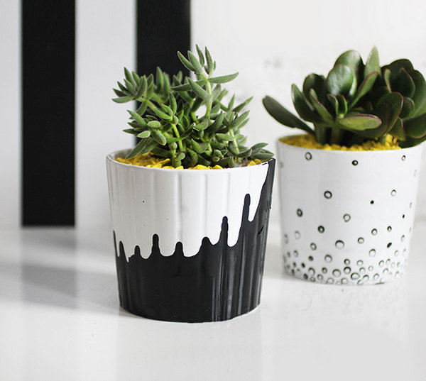 Painted Succulent Pots.