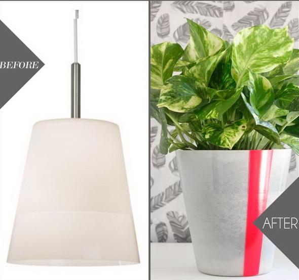 IKEA Pendant Light as Planter.