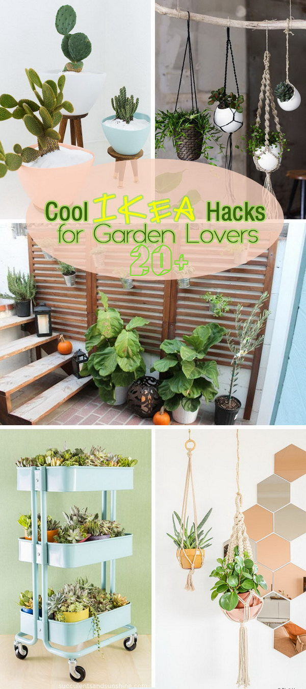 Lots of Cool IKEA Hacks for Garden Lovers!