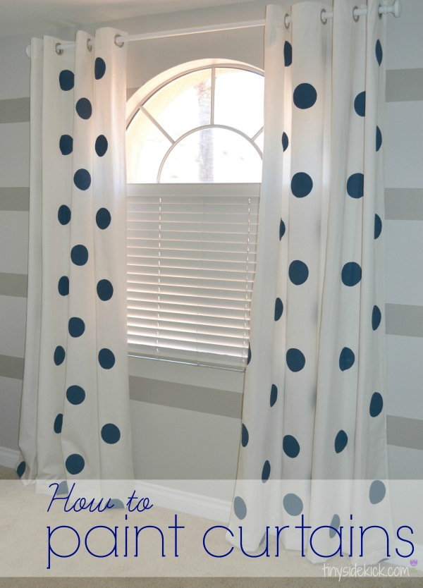 Polka Dots Painted Curtains. Get the tutorial