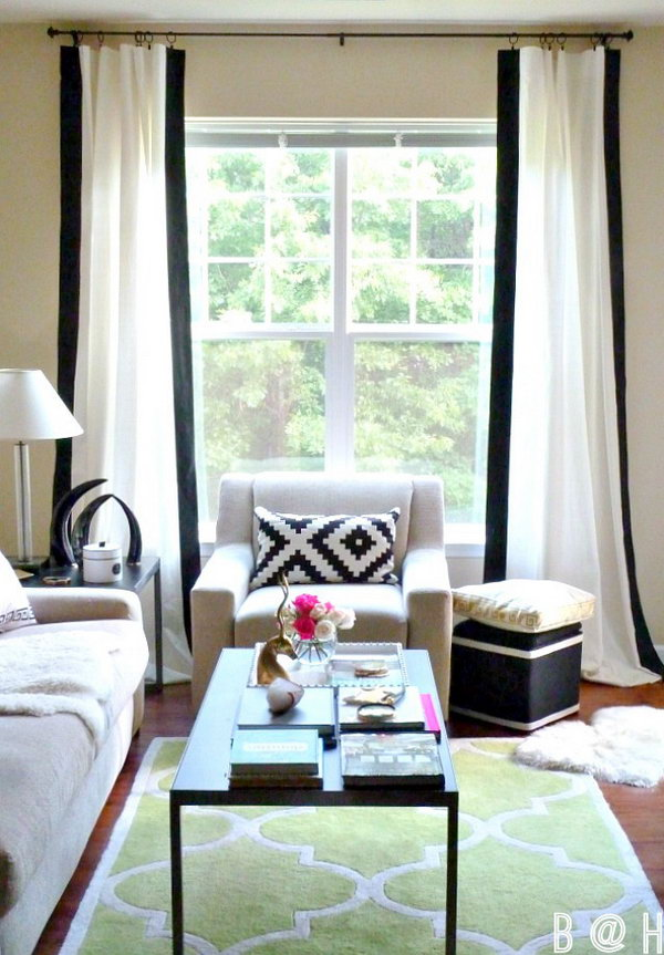DIY Border Black Curtains. See the instructions