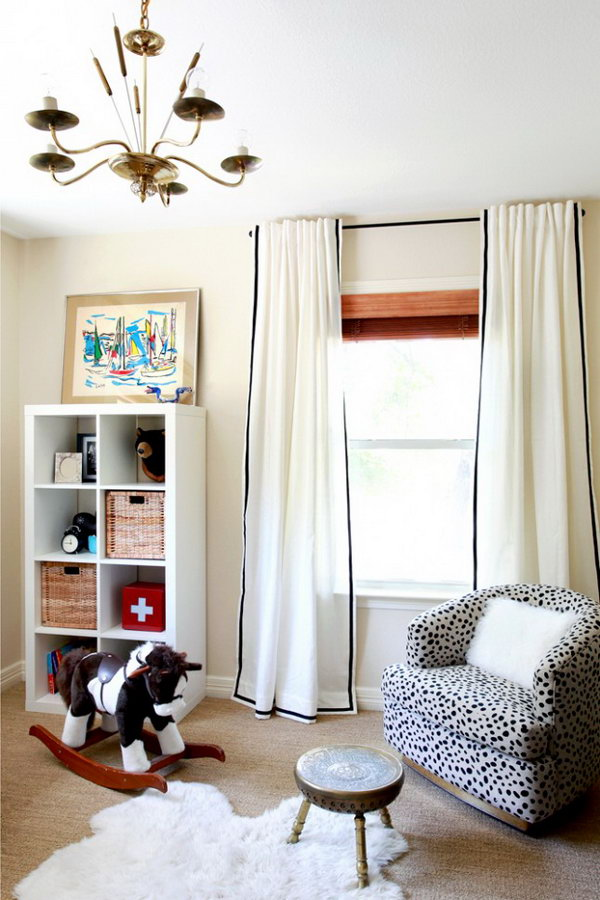 IKEA Hack for Ribbon Curtains. Get the tutorial