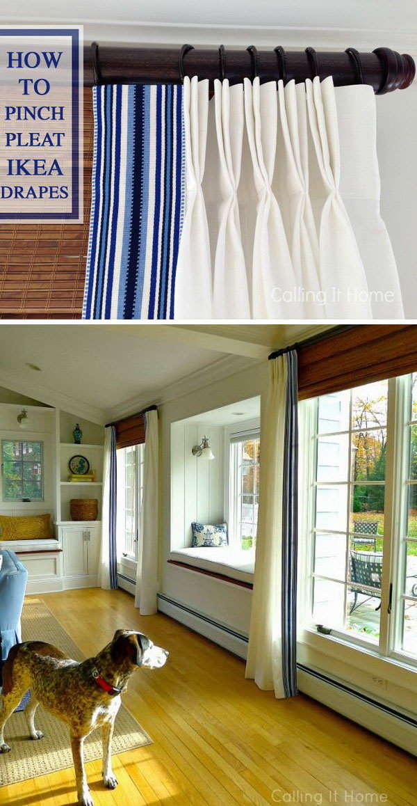 Pinched Pleat Ikea Curtains. Get the tutorial