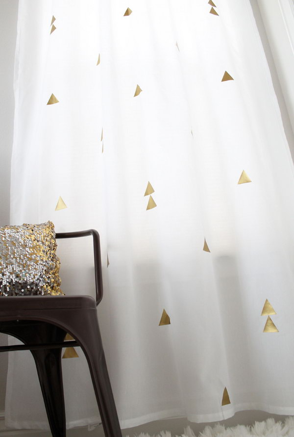 DIY Curtains with Metallic Twist. See more instructions