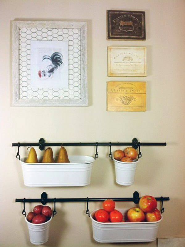 Hanging Storage for the Kitchen. See more
