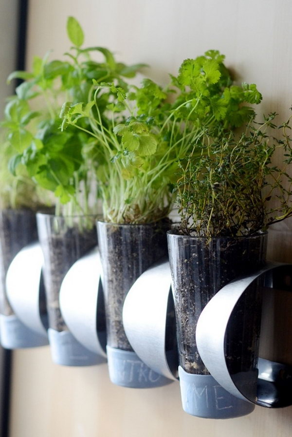 Kitchen Herb Garden Hacked from IKEA Wine Rack. Get the tutorial