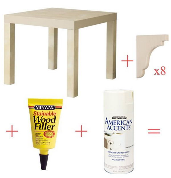 Stylish Ikea Lack Side Table-Corbels.